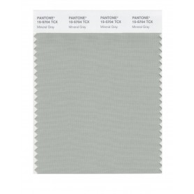 Pantone 15-5704 TCX Swatch Card Mineral Gray