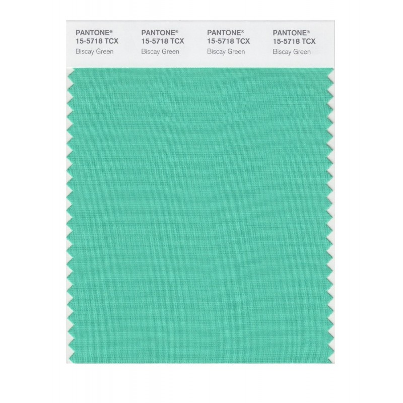Pantone 15-5718 TCX Swatch Card Biscay Green