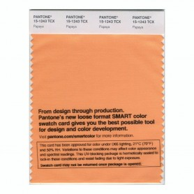 Pantone 15-1243 TCX Swatch Card Papaya