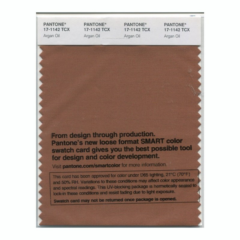 Pantone 17-1142 TCX Swatch Card Argan Oil
