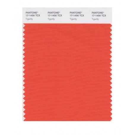 Pantone 17-1456 TCX Swatch Card Tigerlily