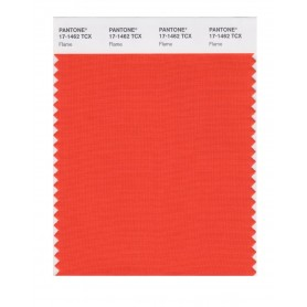Pantone 17-1462 TCX Swatch Card Flame