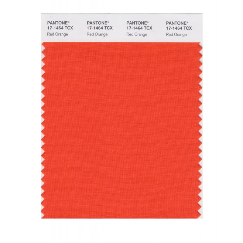 Pantone 17-1464 TCX Swatch Card Red Orange
