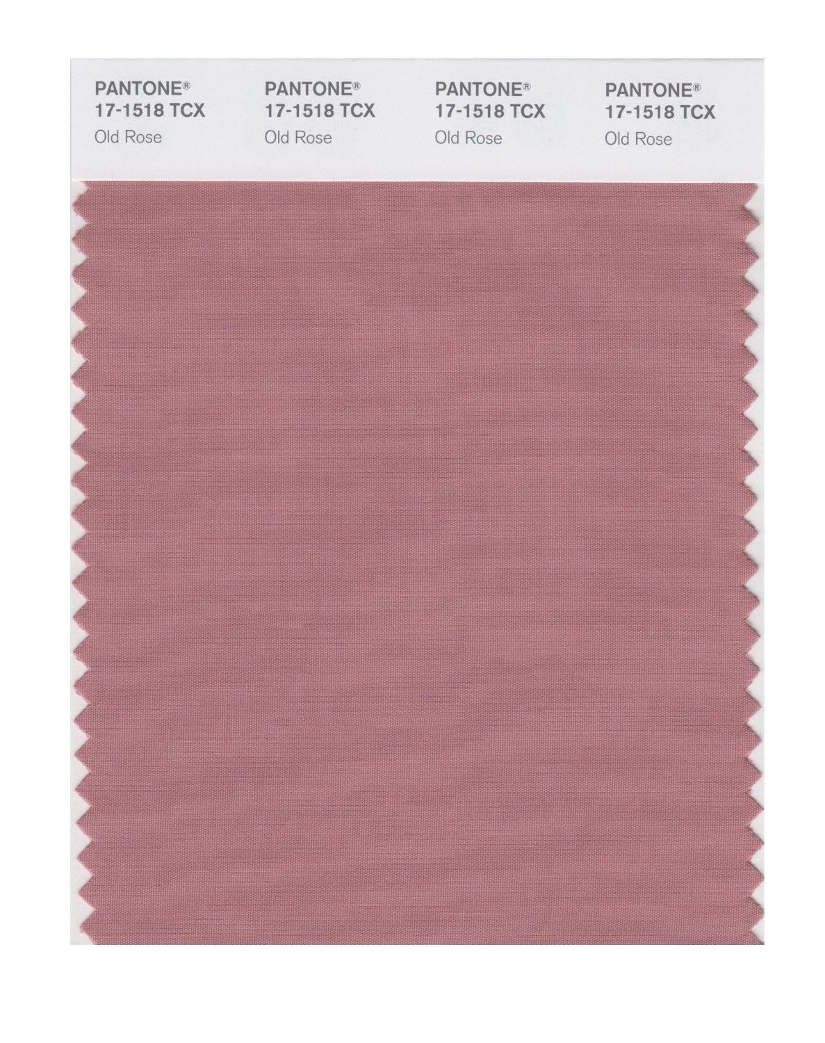Pantone 17-1518 TCX Swatch Card Old Rose