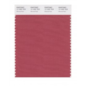 Pantone 17-1537 TCX Swatch Card Mineral Red