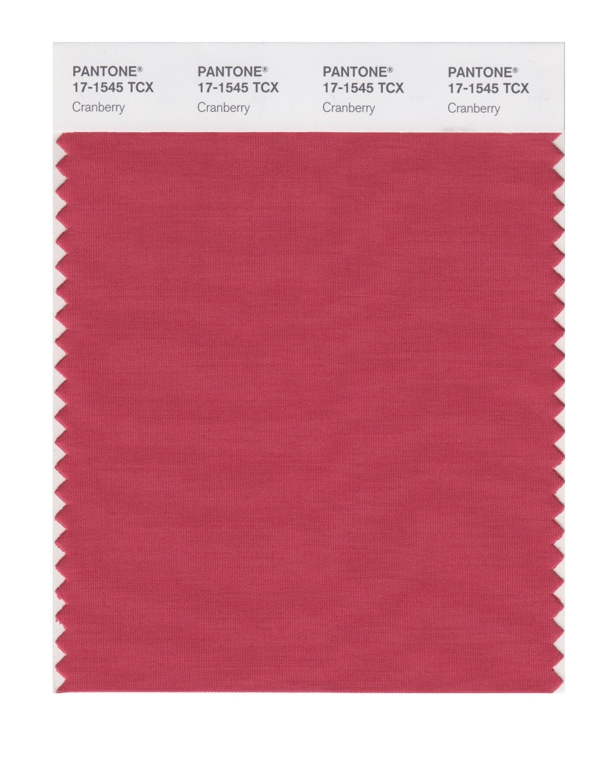 Pantone 17-1545 TCX Swatch Card Cranberry