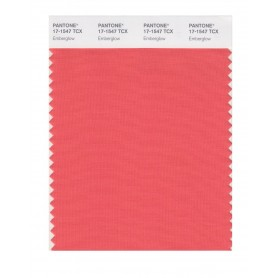 Pantone 17-1547 TCX Swatch Card Emberglow