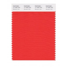 Pantone 17-1562 TCX Swatch Card Mandarin Red