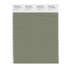 Pantone 17-0115 TCX Swatch Card Oil Green