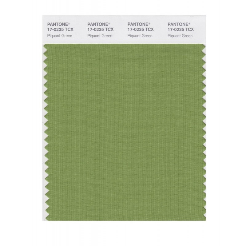 Pantone 17-0235 TCX Swatch Card Piquant Green