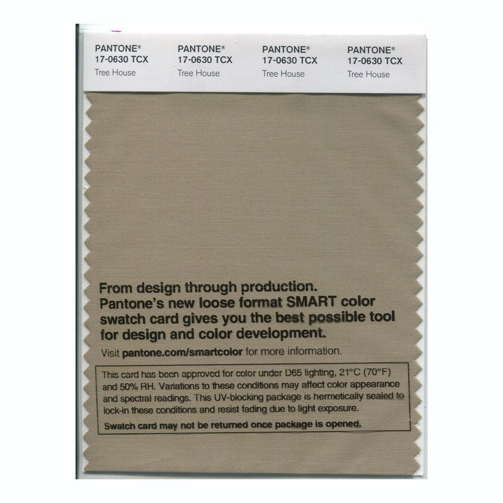 Pantone 17-0630 TCX Swatch Card Tree House