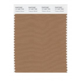 Pantone 17-1327 TCX Swatch Card Tabacco Brown