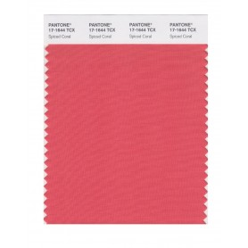 Pantone 17-1644 TCX Swatch Card Spiced Coral