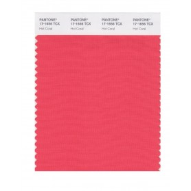 Pantone 17-1656 TCX Swatch Card Hot Coral