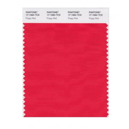 Pantone 17-1664 TCX Swatch Card Poppy Red