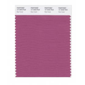 Pantone 17-1818 TCX Swatch Card Red Violet