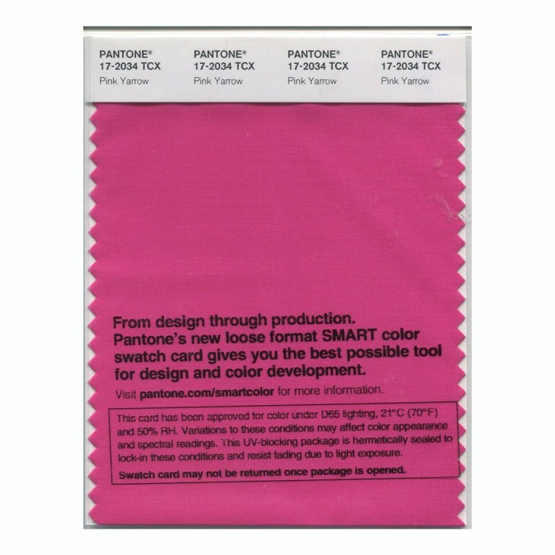 Pantone 17-2034 TCX Swatch Card Pink Yarrow