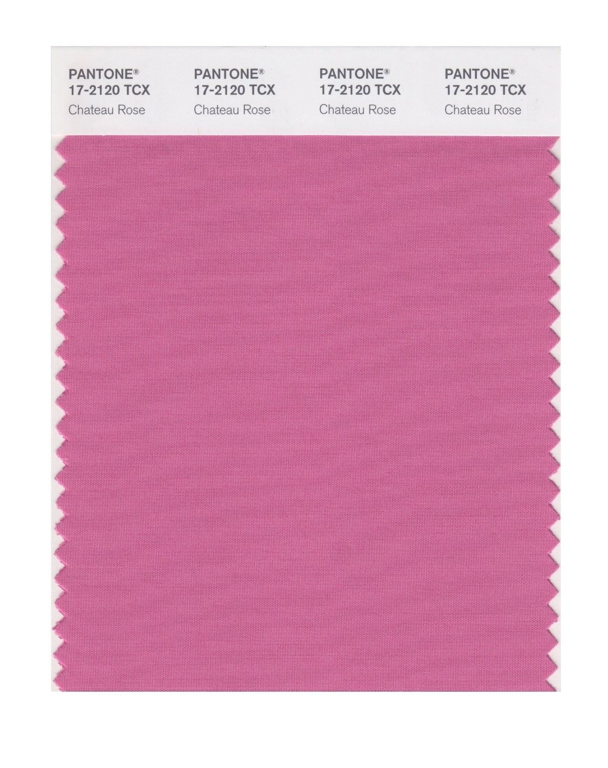 Pantone 17-2120 TCX Swatch Card Chateau Rose