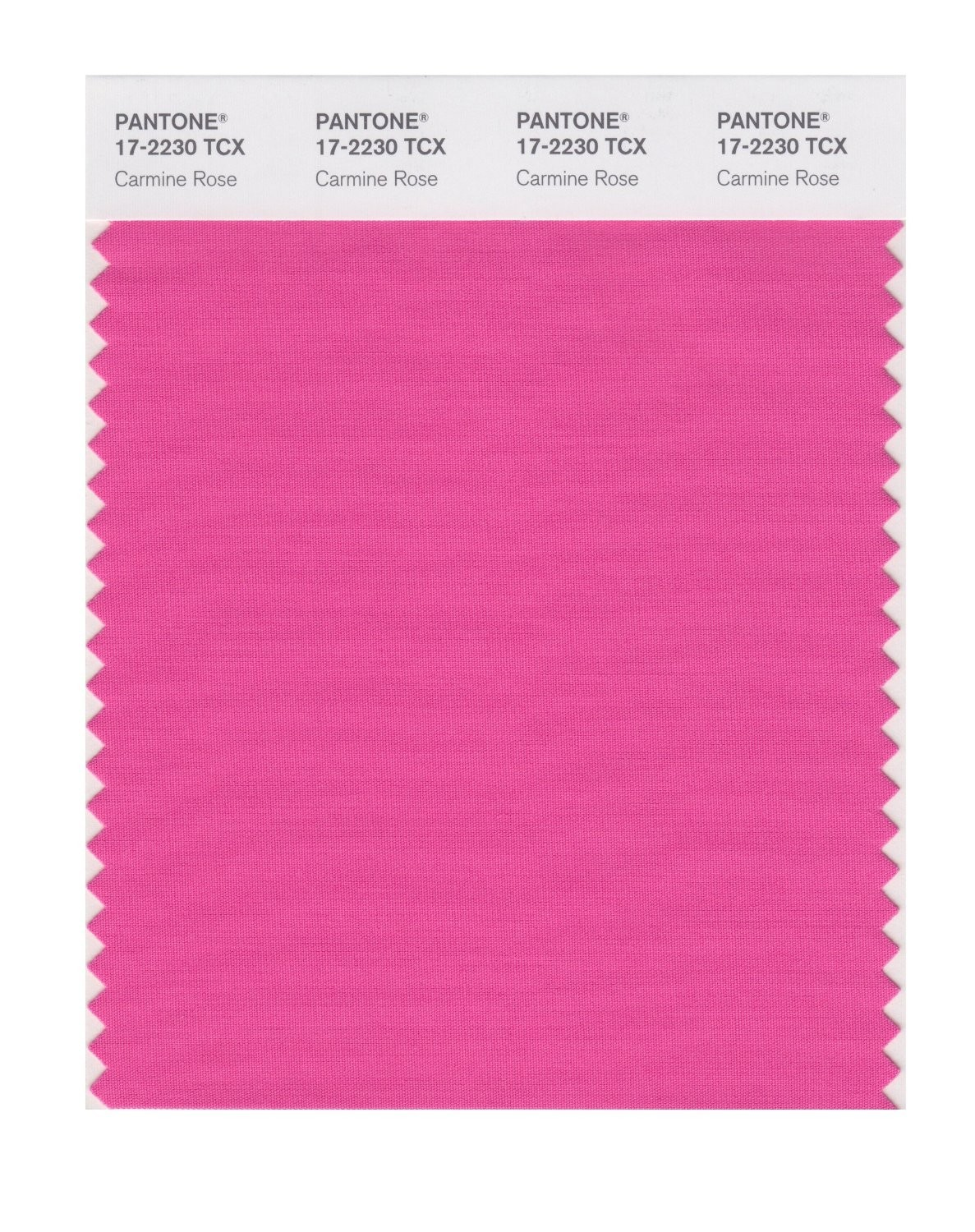 Pantone 17-2230 TCX Swatch Card Carmine Rose