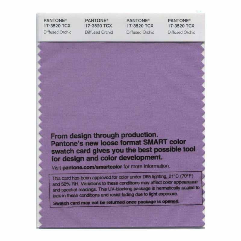 Pantone 17-3520 TCX Swatch Card Diffused Orchid