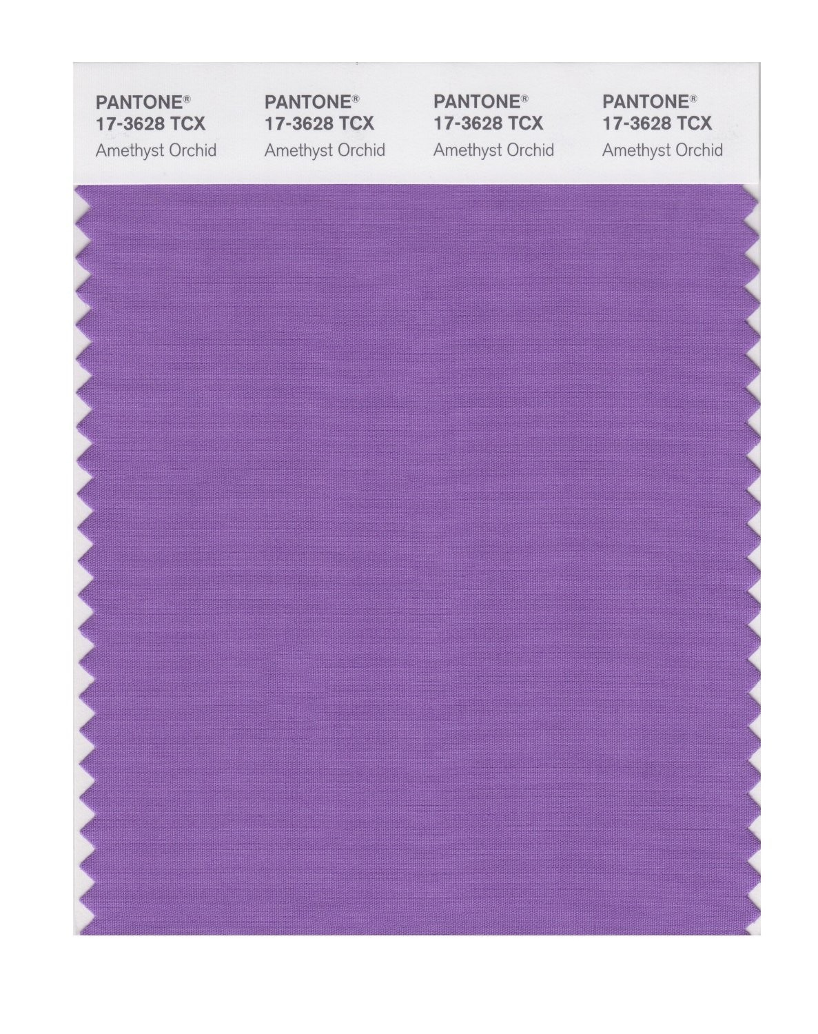 Pantone 17-3628 TCX Swatch Card Amethyst Orchid