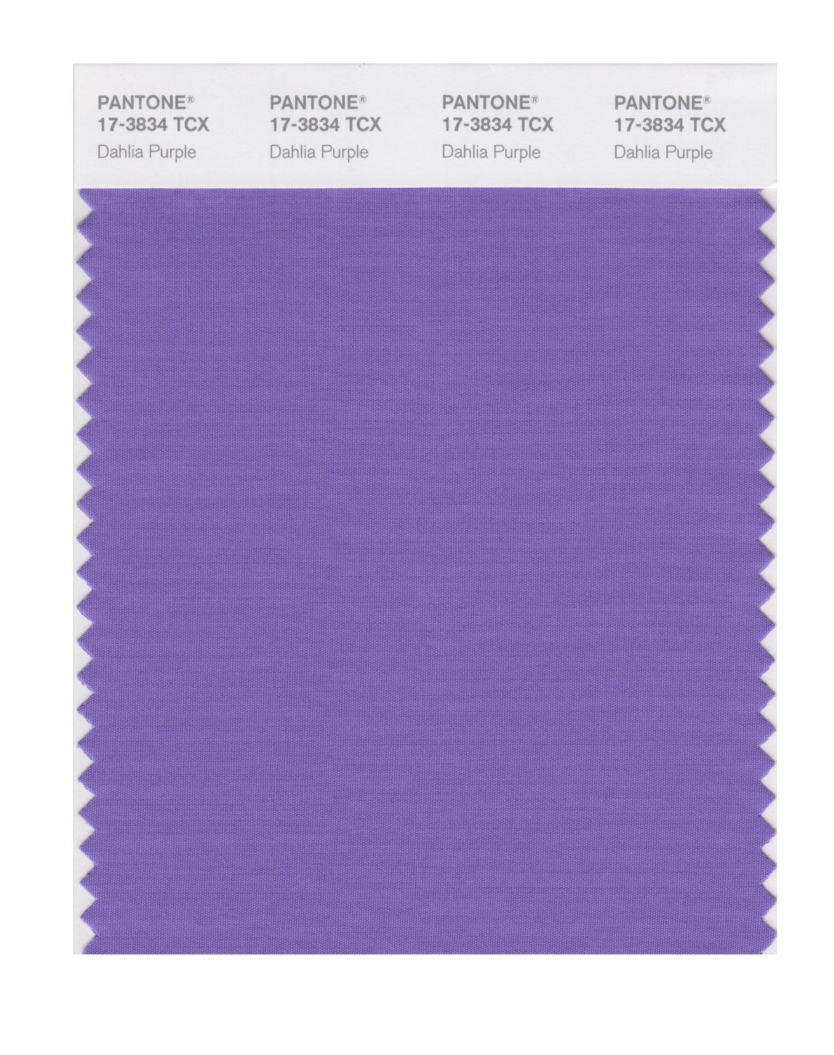 Pantone 17-3834 TCX Swatch Card Dahlia Purple