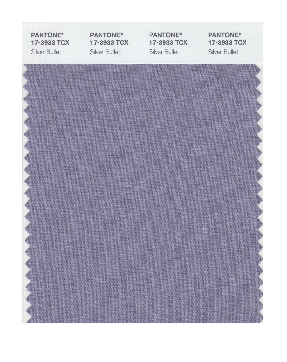 Pantone 17-3933 TCX Swatch Card Silver Bullet