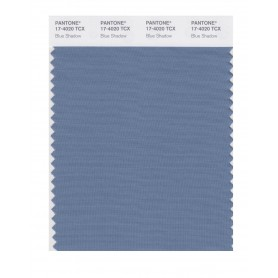 Pantone 17-4020 TCX Swatch Card Blue Shadow