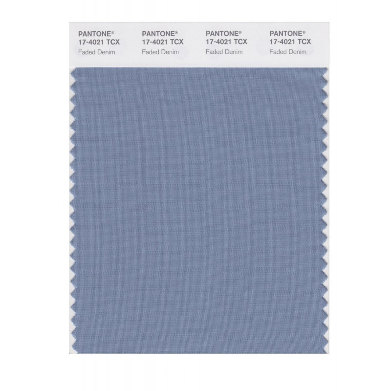 Pantone 17-4021 TCX Swatch Card Faded Denim