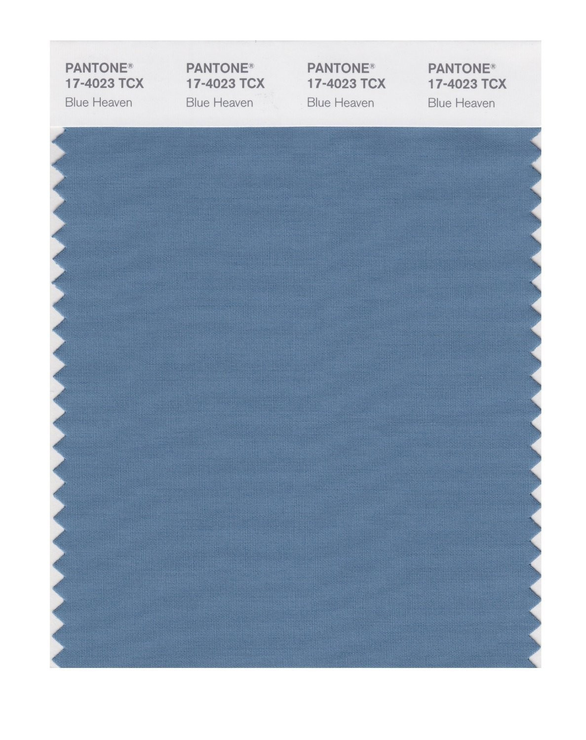 Pantone 17-4023 TCX Swatch Card Blue Heaven