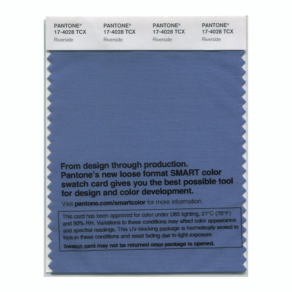 Pantone 17-4028 TCX Swatch Card Riverside