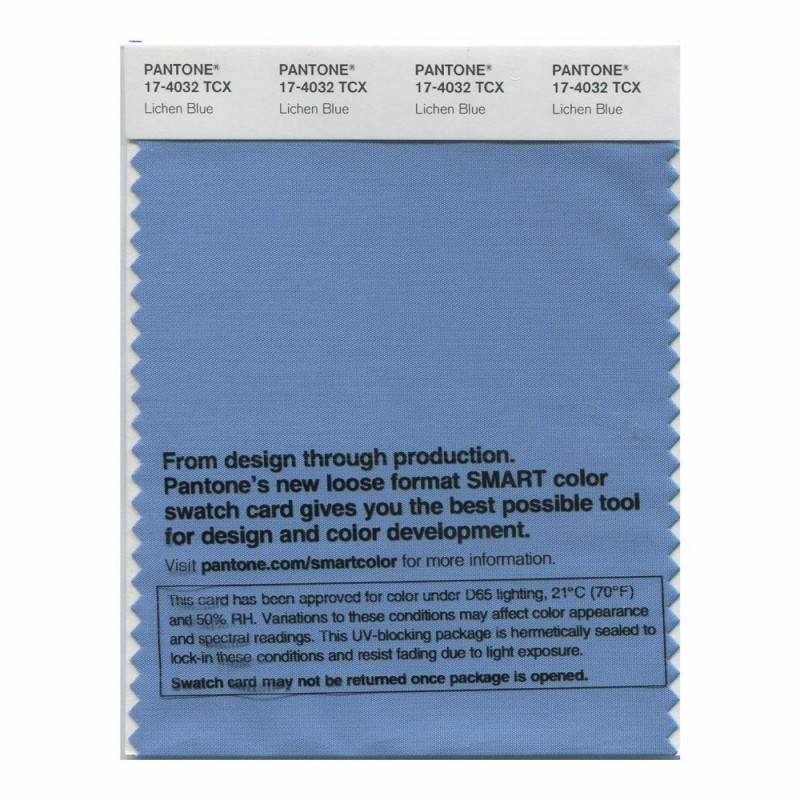 Pantone 17-4032 TCX Swatch Card Lichen Blue