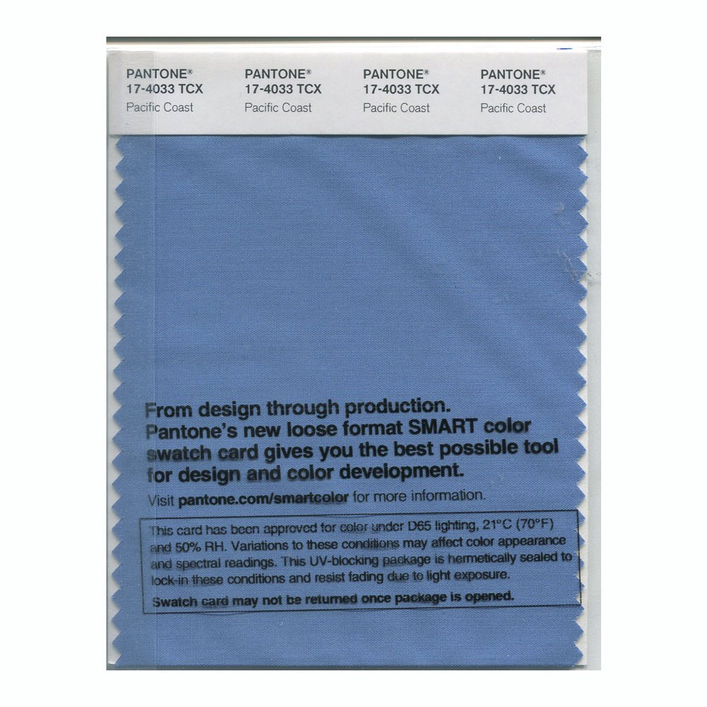 Pantone 17-4033 TCX Swatch Card Pacific Coast