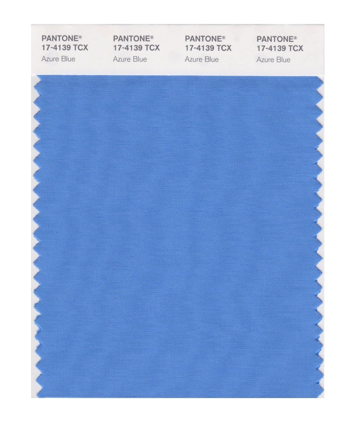Pantone 17-4139 TCX Swatch Card Azure Blue