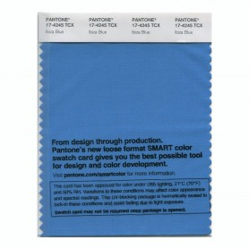Pantone 17-4245 TCX Swatch Card Ibiza Blue