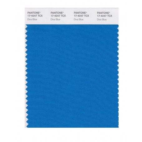 Pantone 17-4247 TCX Swatch Card Diva Blue