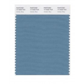 Pantone 17-4320 TCX Swatch Card Adriatic Blue