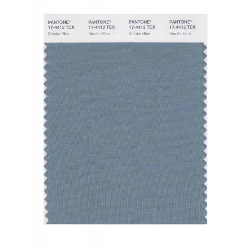 Pantone 17-4412 TCX Swatch Card Smoke Blue
