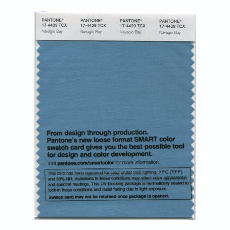 Pantone 17-4429 TCX Swatch Card Navagio Bay