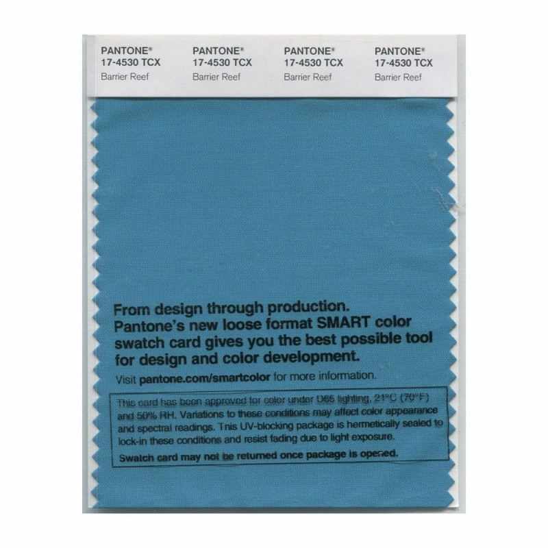 Pantone 17-4530 TCX Swatch Card Barrier Reef