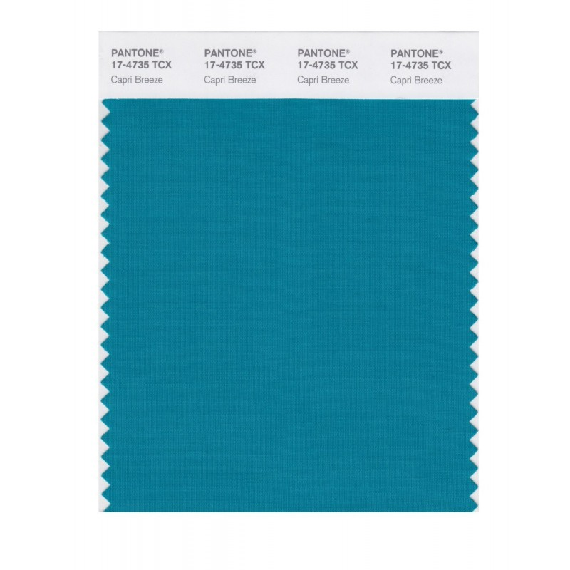Pantone 17-4735 TCX Swatch Card Capri Breeze