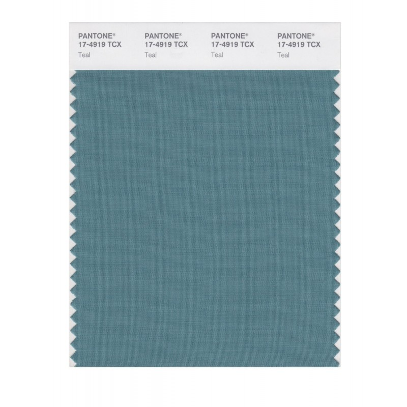 Pantone 17-4919 TCX Swatch Card Teal