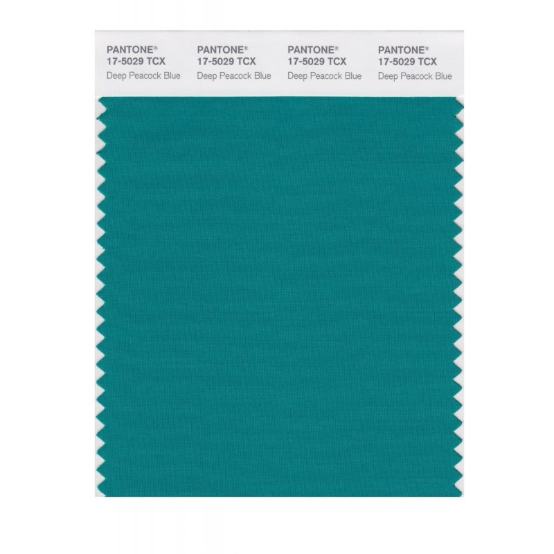 Pantone 17-5029 TCX Swatch Card Dp Peacock Blue