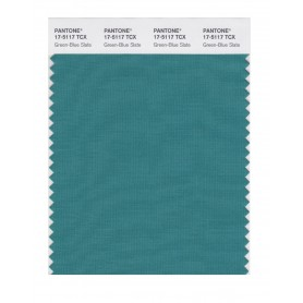 Pantone 17-5117 TCX Swatch Card Green-Blue Slate