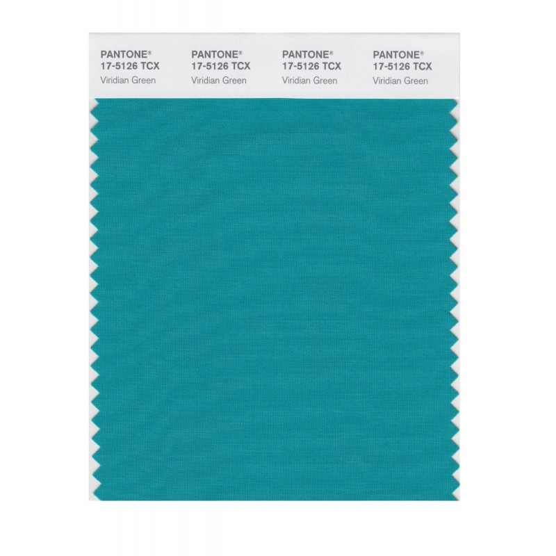 Pantone 17-5126 TCX Swatch Card Viridian Green