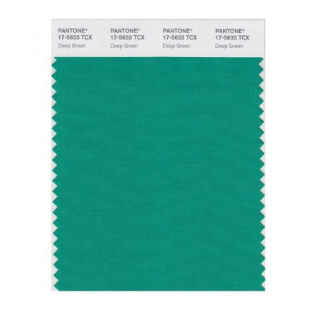 Pantone 17-5633 TCX Swatch Card Deep Green