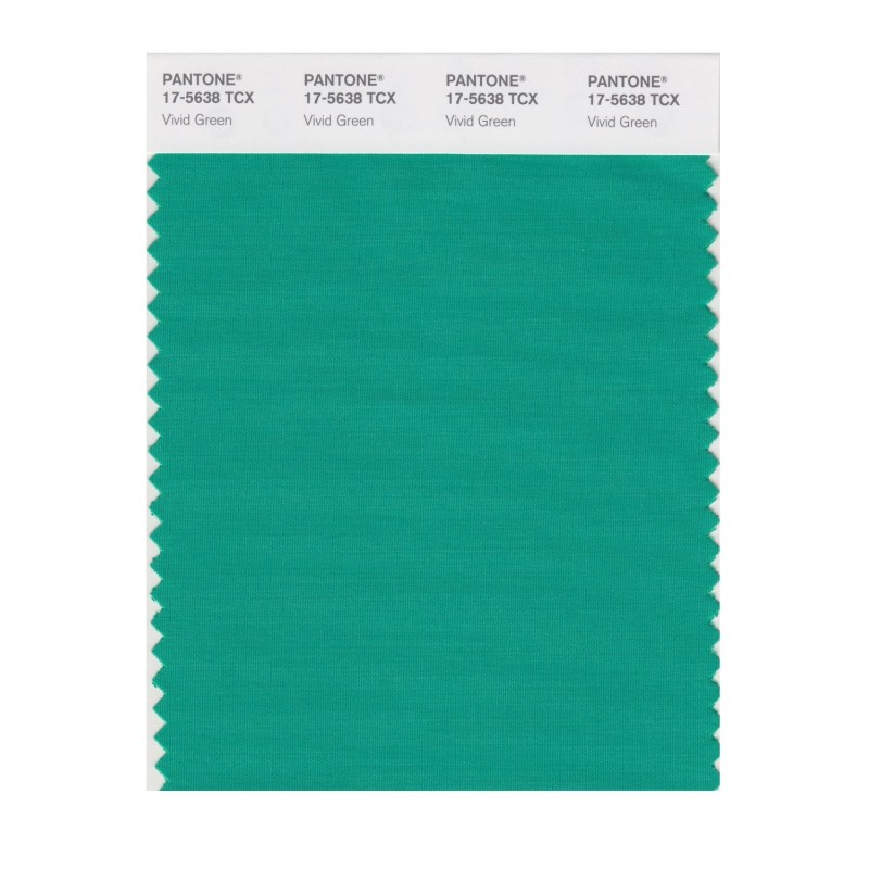 Pantone 17-5638 TCX Swatch Card Vivid Green