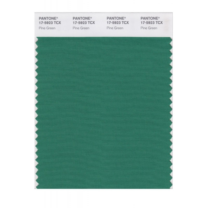 Pantone 17-5923 TCX Swatch Card Pine Green
