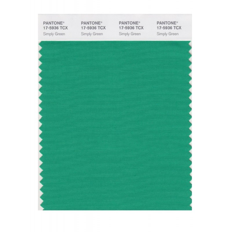 Pantone 17-5936 TCX Swatch Card Simply Green
