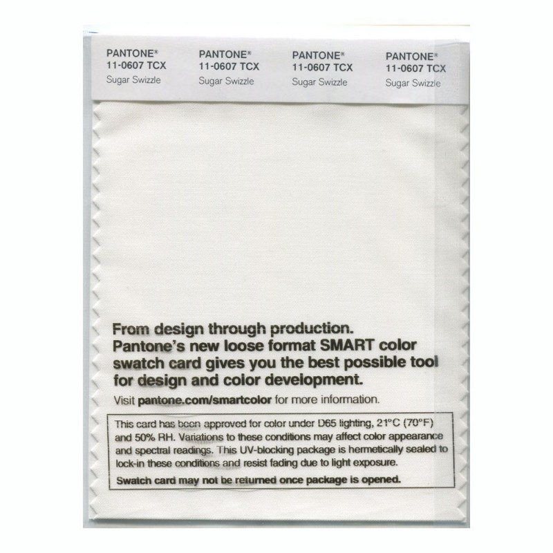 Pantone 11-0607 TCX Swatch Card Sugar Swizzle